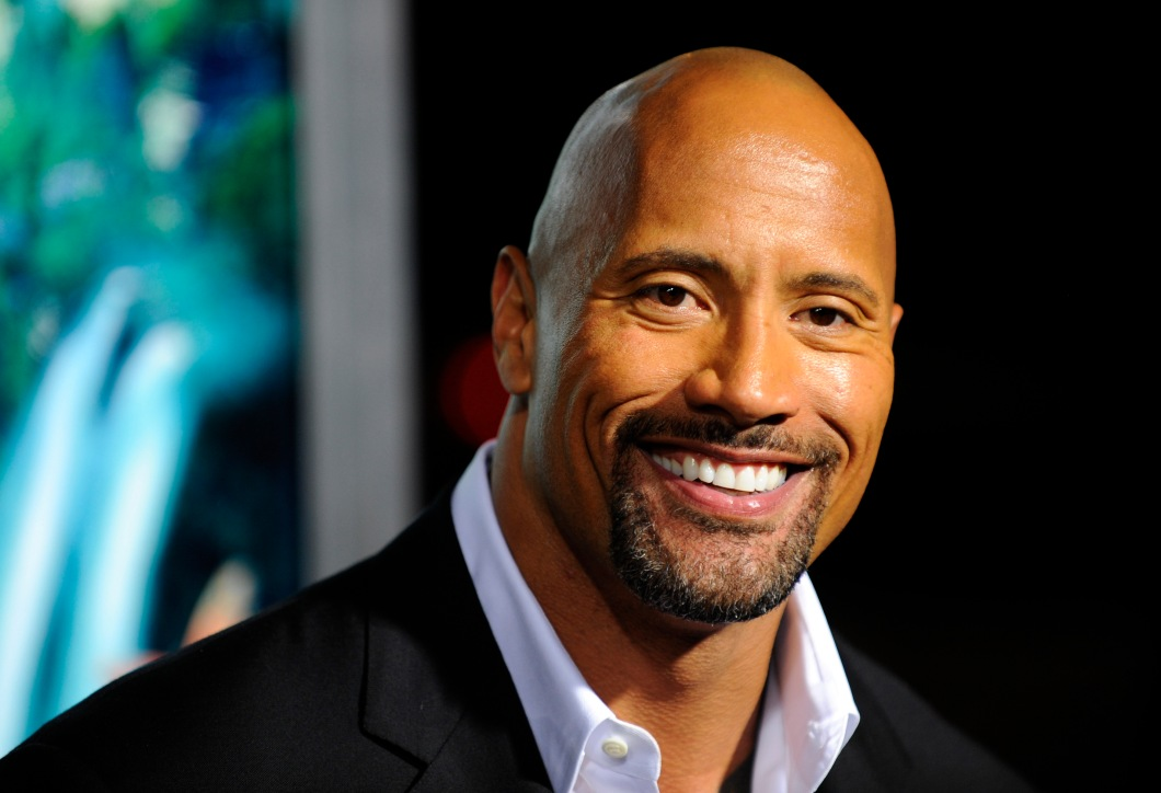 """Actor Dwayne Johnson arrives at the Hollywood premiere of """"Journey 2 :The Mysterious Island"""" in Los Angeles"""
